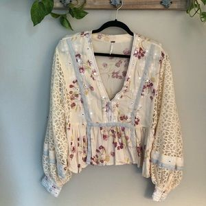 Free People Floral Top